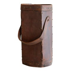 French Leather Umbrella Stand