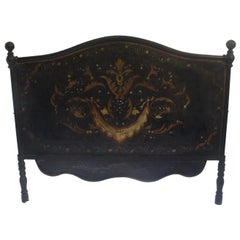 19th Antique Napoleon III Sicilian  Bed Headboard or Foot Part
