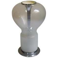 1960s Space Age Murano Glass Table Lamp in the Manner of Angelo Mangiarotti