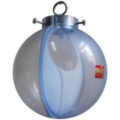 Midcentury Membrane Murano Glass Globe Lamp by Toni Zuccheri, Venini, 1960s