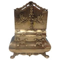 Dutch .883 Silver Miniature Dollhouse Dresser with Applied Cupids