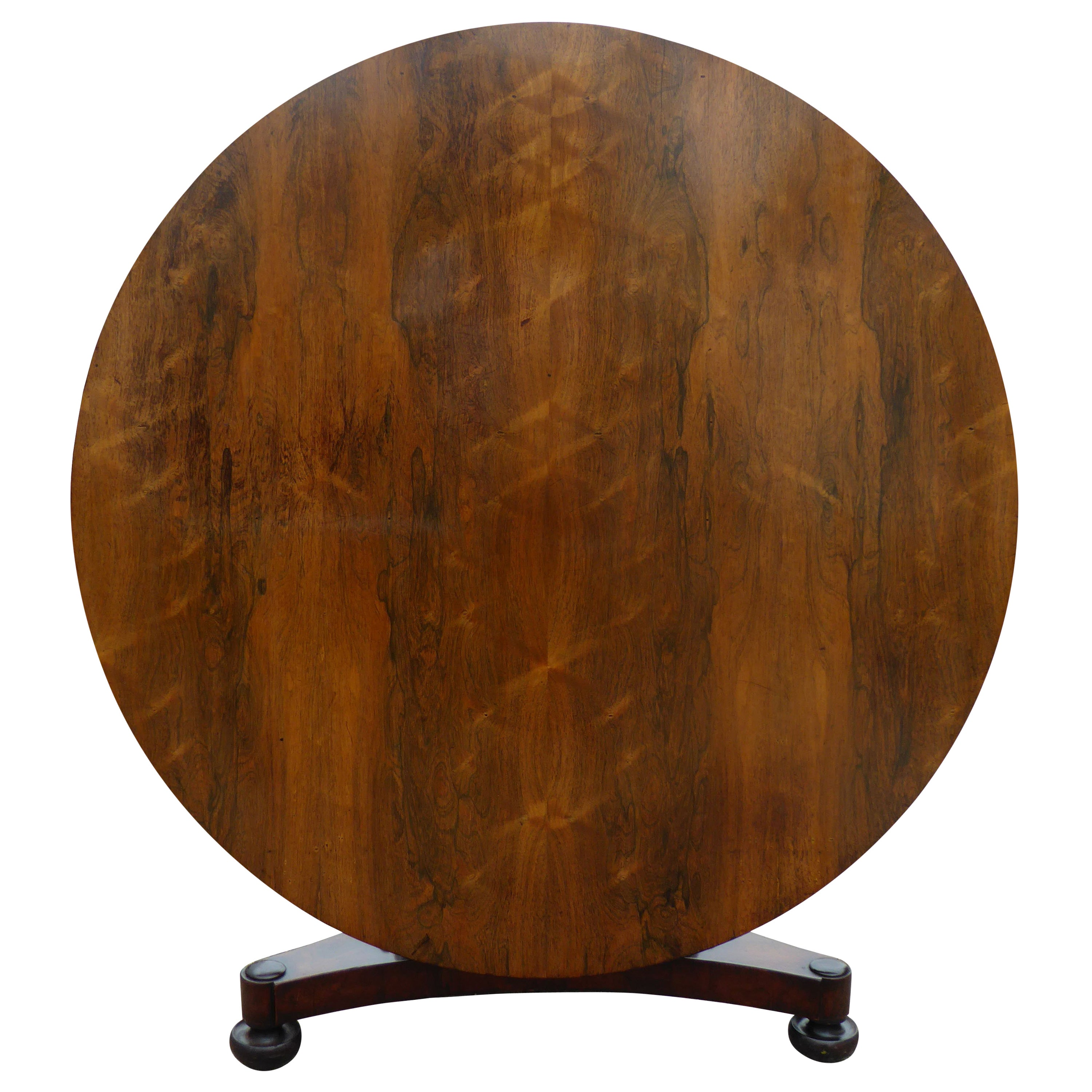19th Century Regency Period Rosewood Round Dining Table