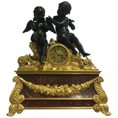 Large Napoleon III Mantel Clock