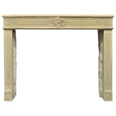 Lovely French Antique Louis XVI Fireplace Mantel