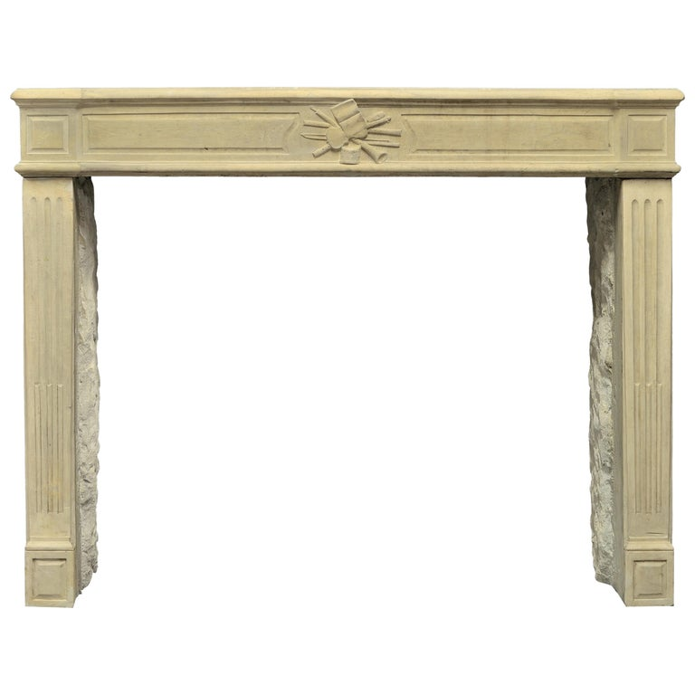Lovely French Antique Louis XVI Fireplace Mantel For Sale