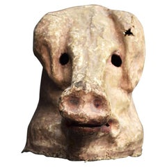 Papier Mâché Pigs Theatre Head