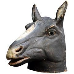 Papier Mache Horse Head