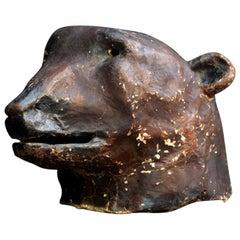 Papier Mâché Theatre Bears Head