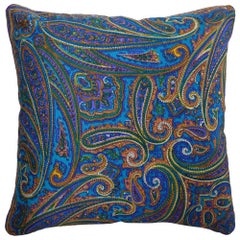 'Vintage Cushions' Luxury Bespoke-Made Silk Pillow 'Amaranth', Made in London