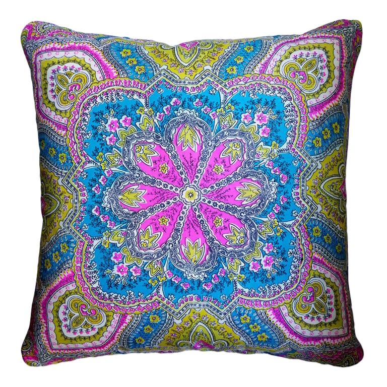 """Vintage Cushions """"Archway"""" Bespoke Luxury Silk Pillow, Made in London For Sale"""