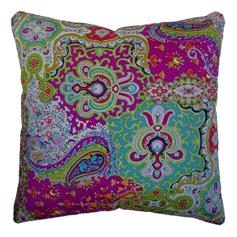"Vintage Cushions ""Augustine"" Bespoke Luxury Silk Pillow, Made in London"