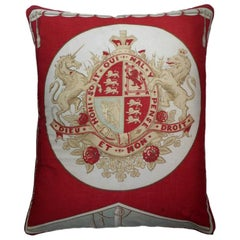 Vintage Luxury Cushions 'Dieu et Mon Droit' Bespoke Collectable Pillow Cushion