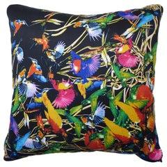 "Vintage Luxury Silk Cushion ""Hummingbirds"" Bespoke Pillow - British Made"