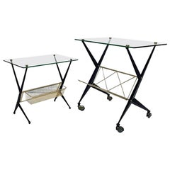 Midcentury 1950s Italian Side Tables by Angelo Ostuni for Frangi Milano