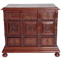 Late 19th Century Oak Jacobean Style Chest