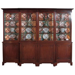 Late 18th Century George III Mahogany Breakfront