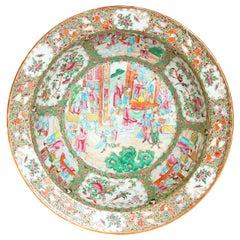 Large 19th Century Chinese Porcelain Rose Medallion Bowl
