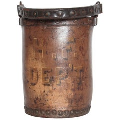 19th Century English Leather Fire Bucket