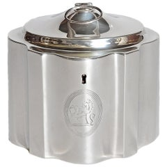 English Regency Silver Tea Caddy, London, 1810-1811