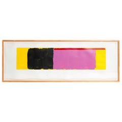 Minimalist Oil on Paper by Doug Ohlson 1936-2010 American
