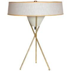 Mid-Century Modern Tripod Table Lamp by Gerald Thurston for Lightolier