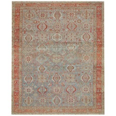 Antique Hand Knotted Wool Persian Karajeh Rug