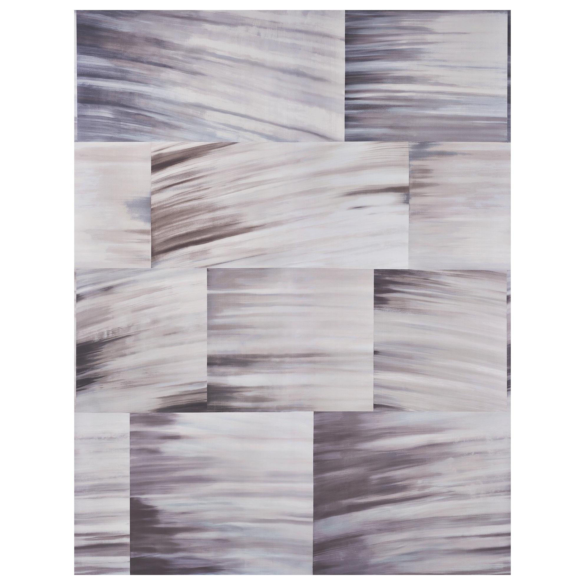 Schumacher David Kaihoi Blocks Geometric Natural Wallpaper Panel