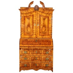 Baroque Secretary Walnut with Inlays, 18th Century