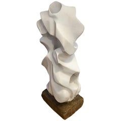 Intricate Plaster Abstract Midcentury Sculpture