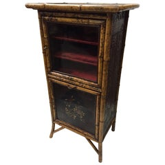 Chinese Lacquer Bamboo Cabinet