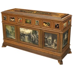 Italian Neoclassical Style Inlaid Satinwood Cassone