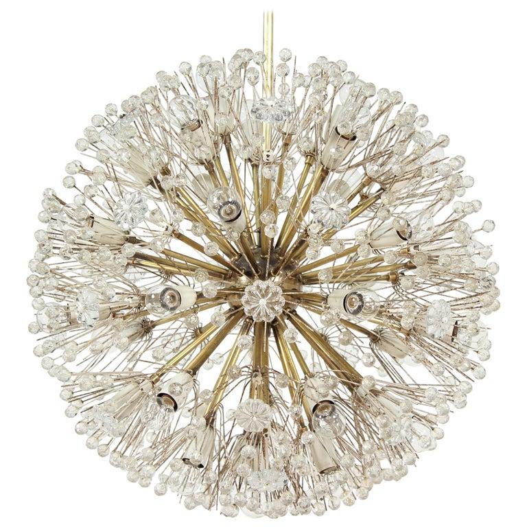 Emil Stejnar Dandelion Sputnik Crystal Chandelier For Sale
