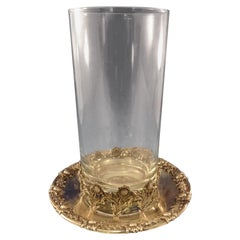 Chrysanthemum by Tiffany and Co Sterling Beverage Holder Glass & Coaster