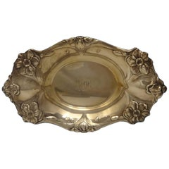 Les Cinq Fleurs by Reed & Barton Sterling Silver Candy Dish with Flower Motif