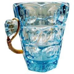 Sklo Union Ice Bucket by Rudolf Jurnikl for Rosice Glassworks, 1950s