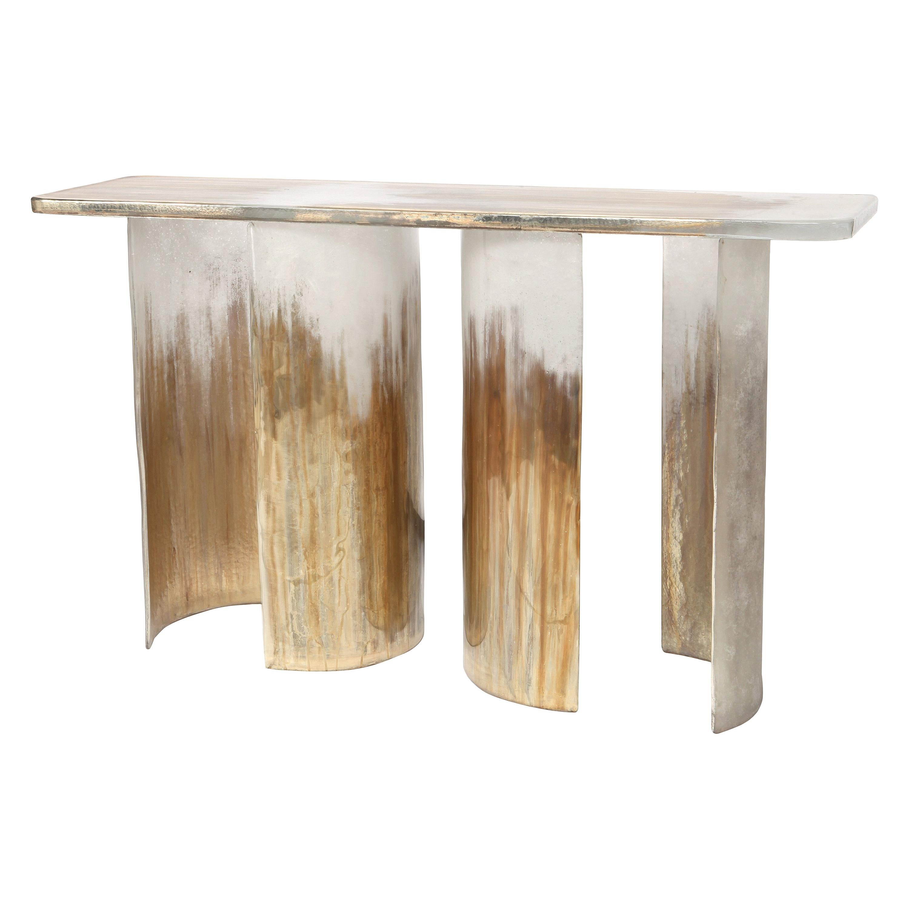 Cloud Console Made from Hand Silvered Murano Glass