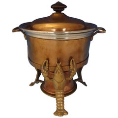 Joseph Heinrichs Lobster Pot Copper and Bronze with 3-D Lobsters