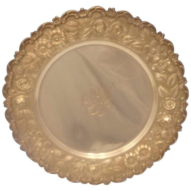 Baltimore Beauty by Baltimore Silversmiths Sterling Silver Dessert Plate For Sale