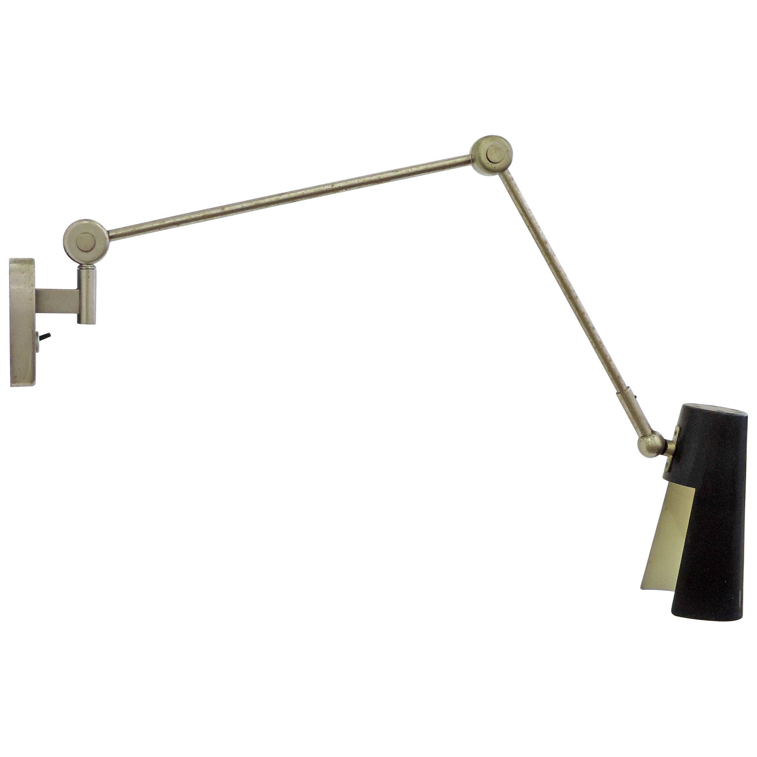 Stilnovo Adjustable Wall Lamp, 1950s