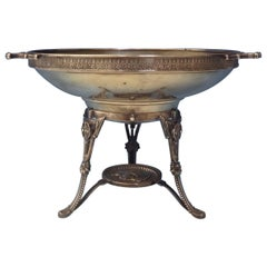 Medallion by Wood & Hughes Sterling Compote Centerpiece with Ladies Head
