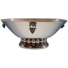 Mexican Mexico Sterling Silver Centerpiece Bowl Modernist