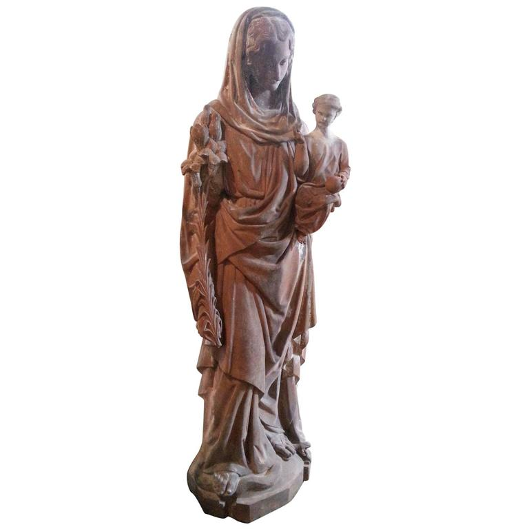 18th Century French Statue in Terra Cotta