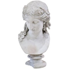 Bust of Antinous as Dionysus, 19th Century