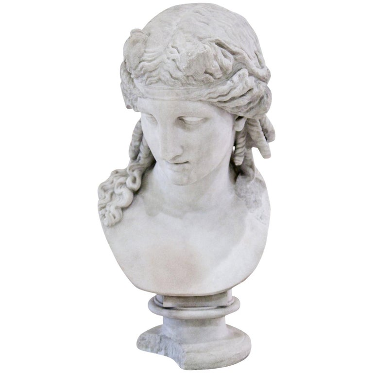 Bust of Antinous as Dionysus, 19th Century 1