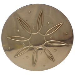 Awakening by Towle Sterling Silver Coaster with Ebony Bottom Modernistic