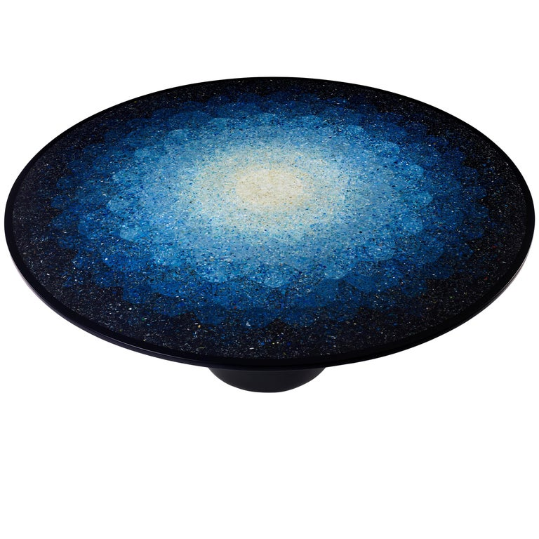 Gyro, Round Mosaic Table in Recycled Ocean Plastic Terrazzo by Brodie Neill 1