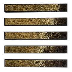 Murano Glass and Gold Leaf Mosaic, Movement Series by Artist Collective CaCO3