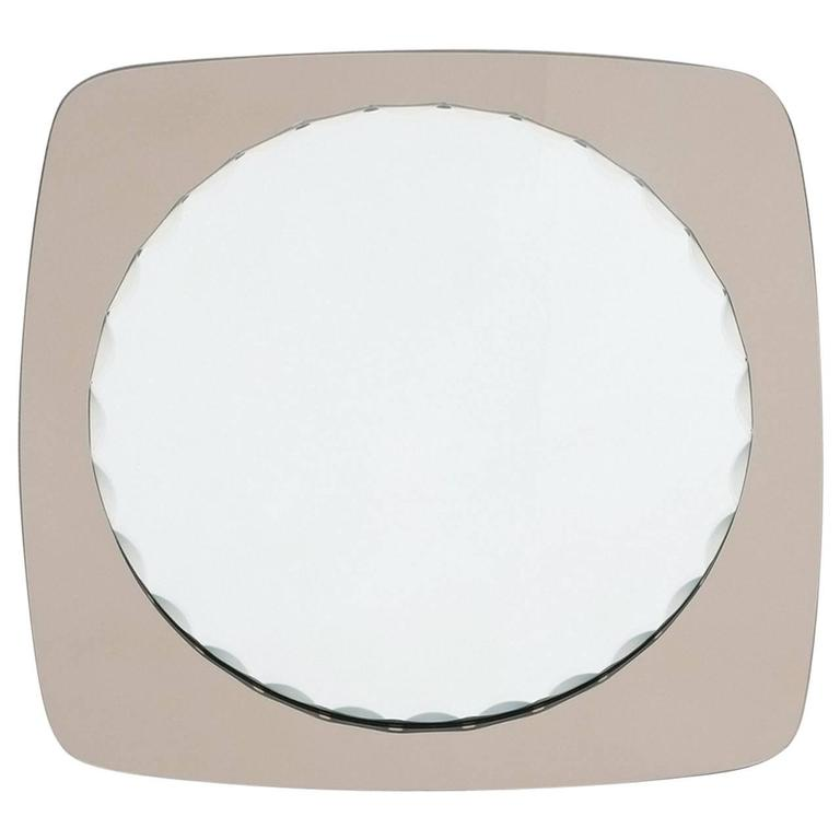 Italian Scalloped Mirror in the Style of Fontana Arte