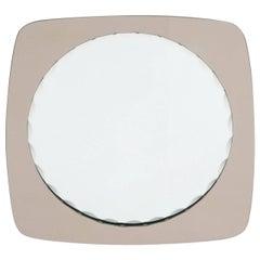 Italian Scalloped Mirror in the Style of Fontana Arte