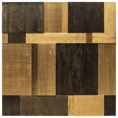 Bronze, Gold Leaf and Mixed-Media Mural Composition No. 1 by Pierre Bonnefille